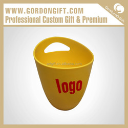 Own logo PIB-018 Good Quanlity Plastic Yellow Ice Bucket Manufacturers