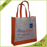 OEM 2015 Promotional Recyclable Fashion non-woven laminated shopping bags