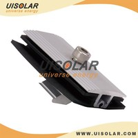 Aluminum Thin Film Solar Panel Mid Clamp with Rubber Wash