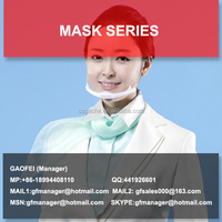 2017 hot sell plastic breathing mask for transparent face mask and transparent mask