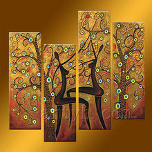 venta caliente de la figura abstracta de la pintura para la decoración del hogar