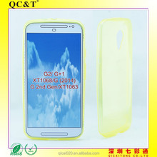 2015 new arrival mobile phone clear tpu Ultra thin Jelly case cover for moto g2 XT1068