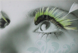 Famous abstract pictures of people women eyes