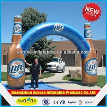 2015 New design inflatable beer arch, inflatable bottle archway