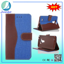 2015 Wholesale cover flip genuine leather wallet case for LG G3