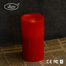 Holidays crafts Red LED flameless Candle