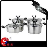 Fashionable Stainless Steel Capsule Bottom Cookwares / Cooking Pot