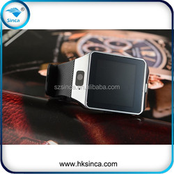 Genuine leather watch band 130W camera bluetooth/GPS/WIFI 3G GSM waterproof android smart watch phone
