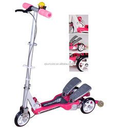 Child's dual pedal scooter super pocket bikes for sale with gear drive foldable kick scooter