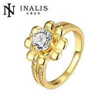 18KGP Cubic Zircon Gold Finger Ring Rings Design For Women With Price