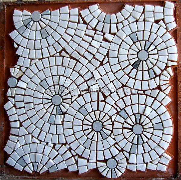 Color Marble Mosaic Designs : Marble pattern floor design mosaic flower