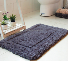 Soft plush anti-slip bathroom mats