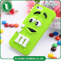 phone case accessories,cheap silicon case for iphone 6 m&m chocolate jelly bean silicon case
