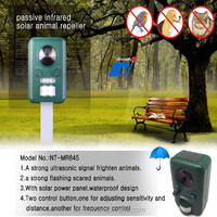 ECO-FRIENDLY solar power and rechargeable battery ultrasonic cat repeller