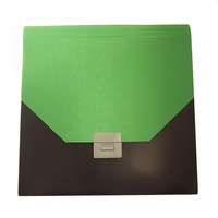 PP plastic A5 fabric button expanding file folder with index