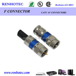 hot sale F type plug coaxial connector cable rg6 rg59 rg11