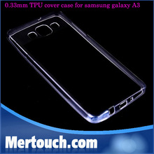 for samsung galaxy A3 cover case soft TPU 0.33mm transparent phone case for samsung galaxy A3