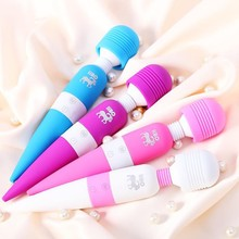 Japan sex toy vibrator electri USB recharable AV wand medical silicone 8 pulse frequency