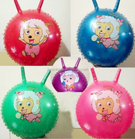 Wholesale ECO-friendly PVC hopper ball/jumping ball with handle for kids