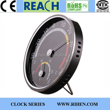 Designed Metal Aluminium Table Wall Dial Thermometer and Hygrometer with Piano Lacquer