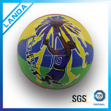 size 5 rubber basketball 8.5 inches basketball for school training