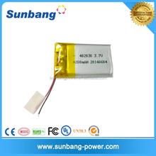 Popular 3.7v polymer battery manufacturer 200mah for Electrical Pen/Watch/E-cig