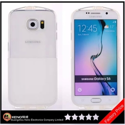 Keno High Quality Transparent Clear Silicon Phone Case for Samsung Galaxy S6 Clear Phone Case
