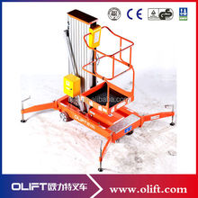 Elevated Hydraulic arm aluminum lift work platform lift