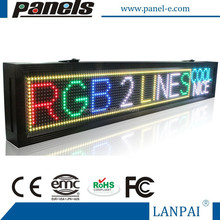 two lines Scrolling Rainbow Message LED business Display Sign