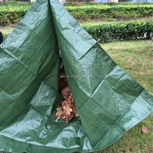 UV treated green mesh cargo & garden leaf loader Tarps