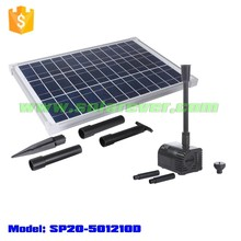 Installation free 2.1m head 1360LPH flow rate dry run and locked rotor protected solar pump (SP20-501210D)