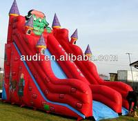 Dinosaur Castle Inflatable Slide,Giant Red Inflatable Water Slide for sale