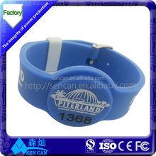 Customized logo gym/salon/restaurant membership card watch style wristband
