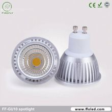 Aluminium housing 120 degree COB chip gu10 led ceiling downlights 2700k spot light dimmable