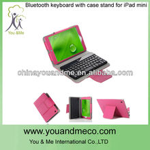 Bluetooth mini keyboards with Smart Cover Case Stand for iPad mini