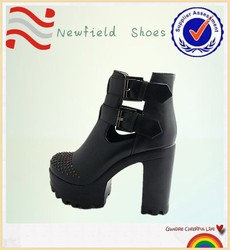 Wholesale comfort leather sandals safety fashional highheel shoes footwear women shoes