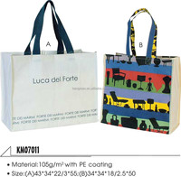 large screen printing ladies eco friendly recycled canavs shopping bag