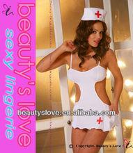 lycra blanco traje de enfermera de disfraces vestido de ropa para oem