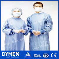 Blue Operation Sterilized Clothes medical surgical gown with sleeve white surgical gown with cap