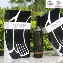delicate design paper wine bottle shape box with blister insert