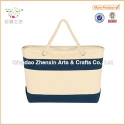 2015 ZHENXIN new designed stripes canvas beach bag wholesales