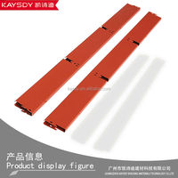 Radiation protection metal building materials of grid ceilings