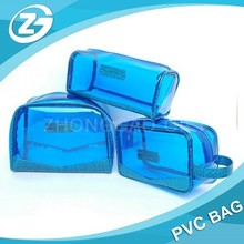 Custom Design Clear PVC Travel Cosmetic Bag with Zipper