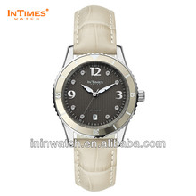 China watch InTimes IT-1052L steel watch genuine leather band 50ATM Retail Wholesale OEM