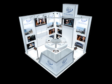 10x10 booth design portable tradeshow booth custom trade show display portable booth system from Shanghai factory