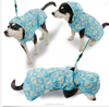 Pet Raincoat large Dog Clothes Cartoon Design Puppy Cat waterpoof RainCoat Jacket Apparel Blue