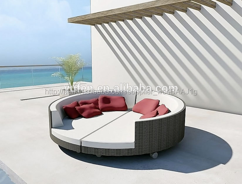 mobilier d 39 ext rieur plage ronde lit baldaquin. Black Bedroom Furniture Sets. Home Design Ideas