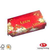 Full color printing tissue paper box wholesales made in china box for tissue paper