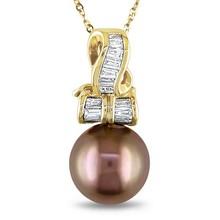 18 kgp nekclace perla de diseño