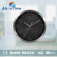 quartz rhythm round photo wall clock